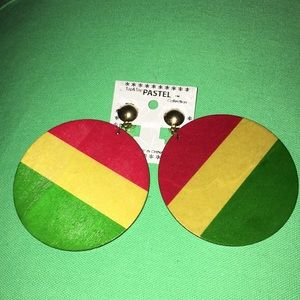 🆕 AFROCENTRIC WOODEN DISC EARRINGS